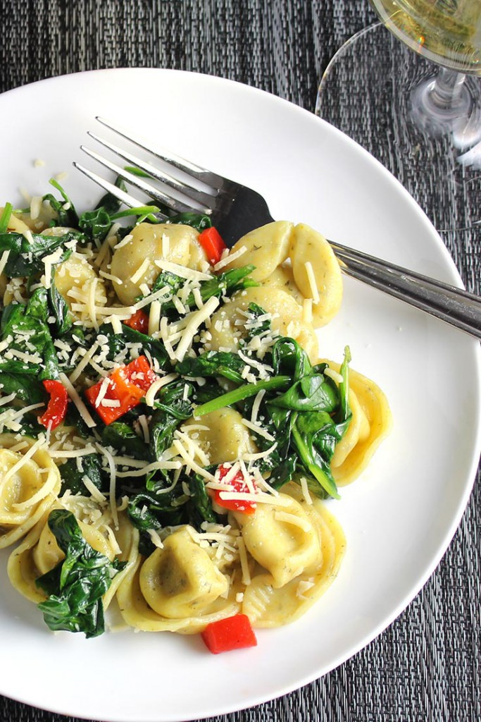 quick-tortellini-with-spinach - Cooking Chat Food