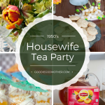 1950's Housewife Tea Party with a slight tiki twist! * GoodieGodmother.com #LiptonTeaTime #sponsored