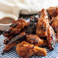 Chocolate Porter Grilled Chicken Wings