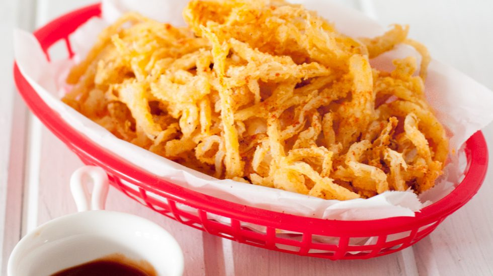 Crispy Smoked Paprika Onion Straws