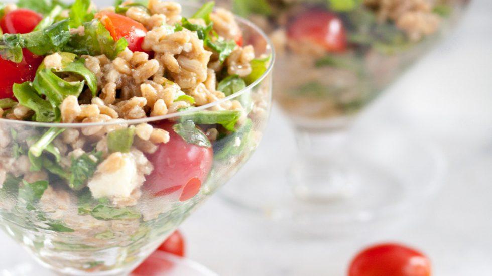 Feta Farro Salad