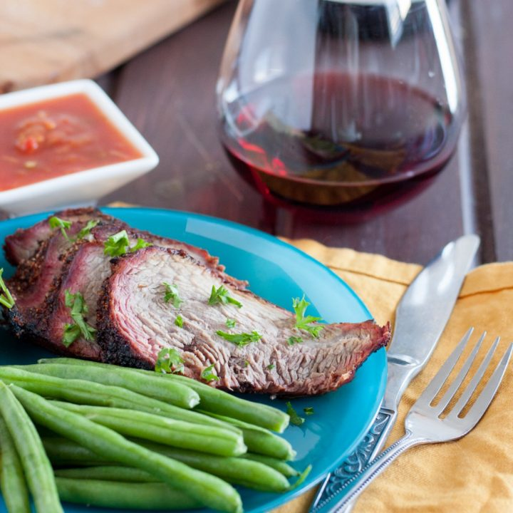 Santa Maria Tri Tip Barbecue is California BBQ at its best! Learn how to make it at home (gas or charcoal grill) and enjoy central coast California cuisine no matter where you are! * GoodieGodmother.com