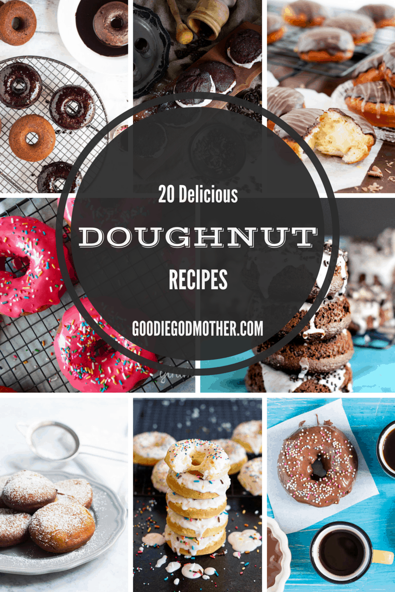 20 Delicious doughnut recipes to try! Baked, fried, dipped, sprinkle coated, sugar dusted, and even gluten free - these look amazing!