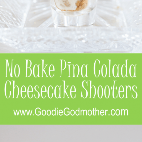Dessert shooters make a fun and unique treat to take to a party. These no bake piña colada cheesecake shooters are the perfect mini dessert for summer fun! * GoodieGodmother.com