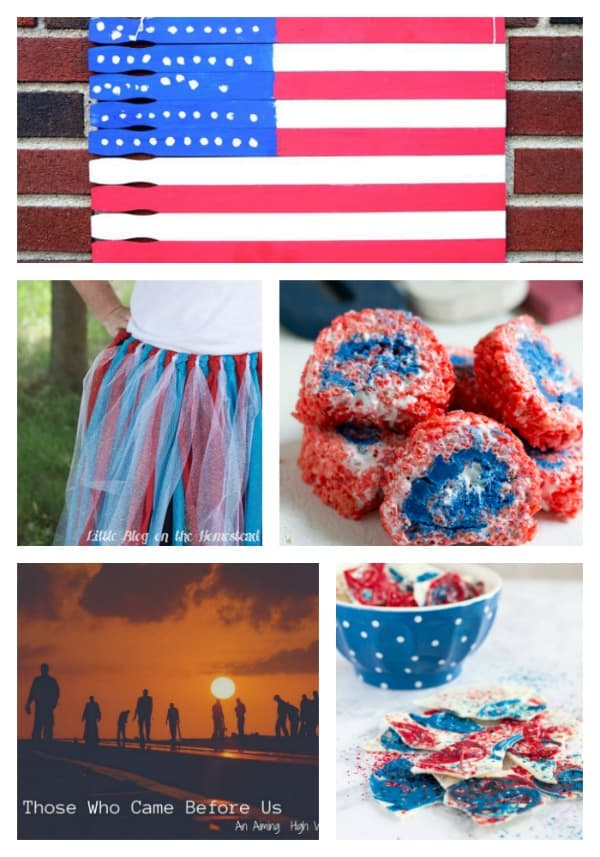 Easy crafts, tasty desserts, meaningful reflections - lots of great ideas for Fourth of July!