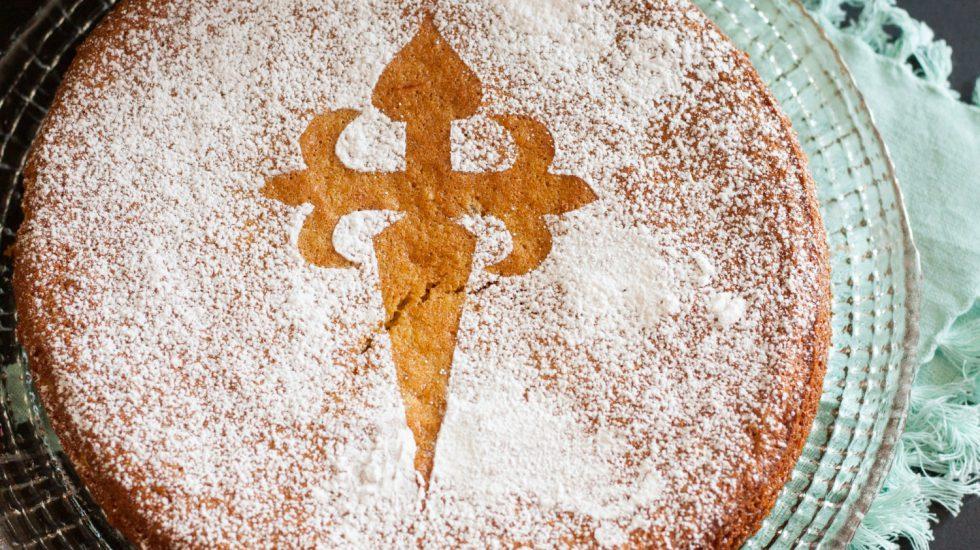 Tarta De Santiago {Spanish Almond Cake}