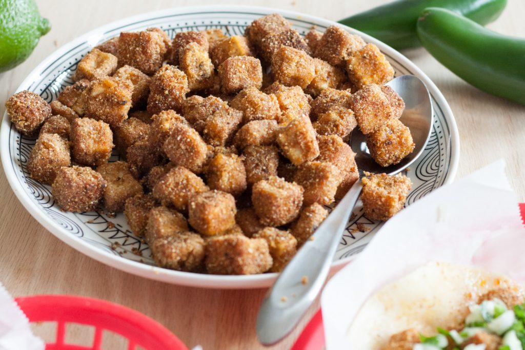 Crispy Tofu Tacos - Vegan, but totally omnivore approved! Recipe on GoodieGodmother.com