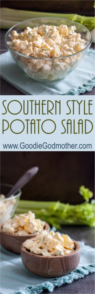 Southern Style Potato Salad - A summer picnic classic, this easy salad is loaded with flavor and always one of the most popular dishes at any meal! * Recipe on GoodieGodmother.com
