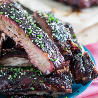Hawaiian Inspired Root Beer Sticky Ribs
