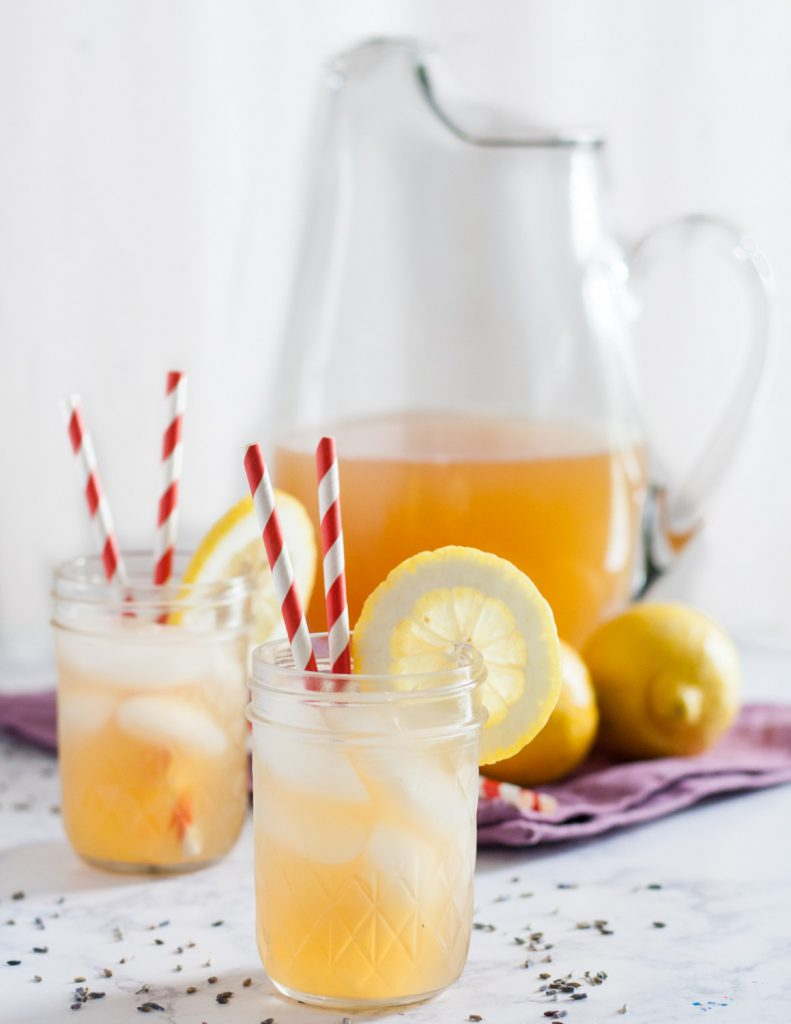 Sweeten your summer lemonade with honey, and add a floral flavor with lavender. Honey, lemon, and lavender are a classic flavor combination that comes together beautifully in this raw honey lavender lemonade recipe!  * GoodieGodmother.com
