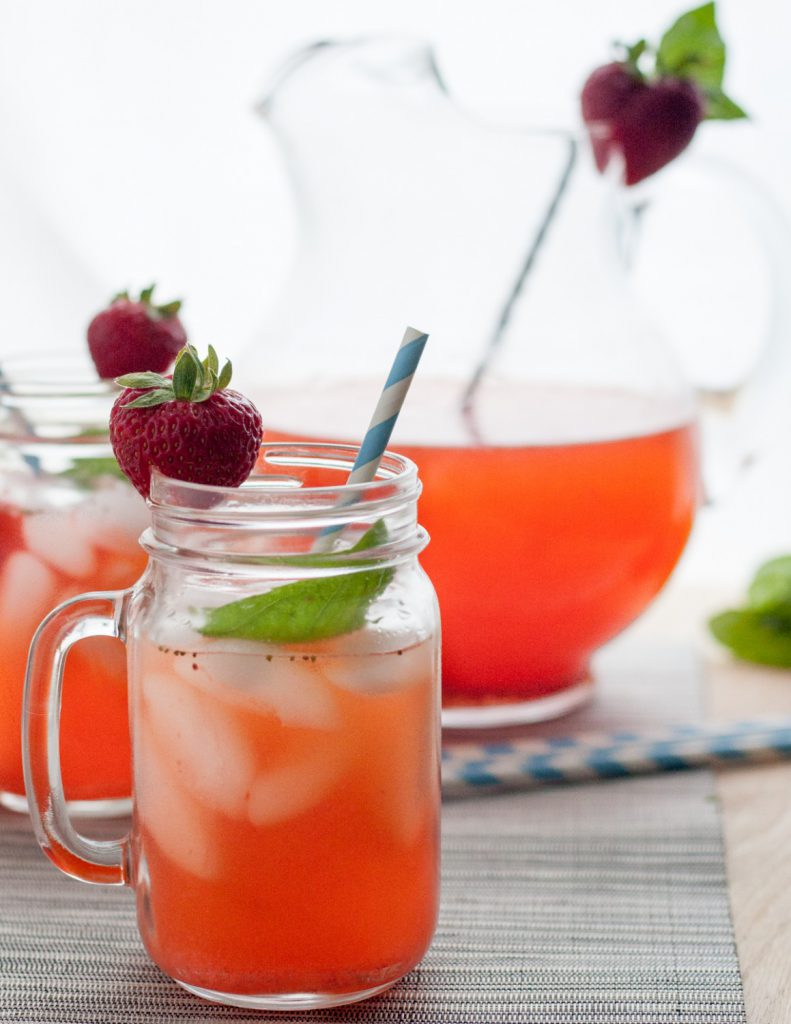 Strawberry Basil Lemonade is a delicious non-alcoholic lemonade recipe ...