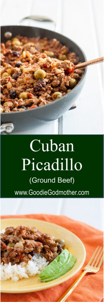 Cuban Picadillo - A delicious, economical, and clean eating friendly ground beef recipe! * GoodieGodmother.com