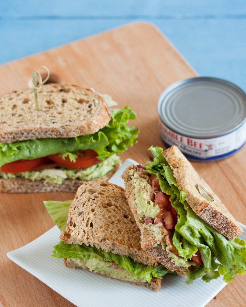 Avocado Tuna BLTs - skip the mayo, but still enjoy everything about a tuna BLT in this better-for-you spin on a classic lunch sandwich. #OnlyAlbacore #CG #ad