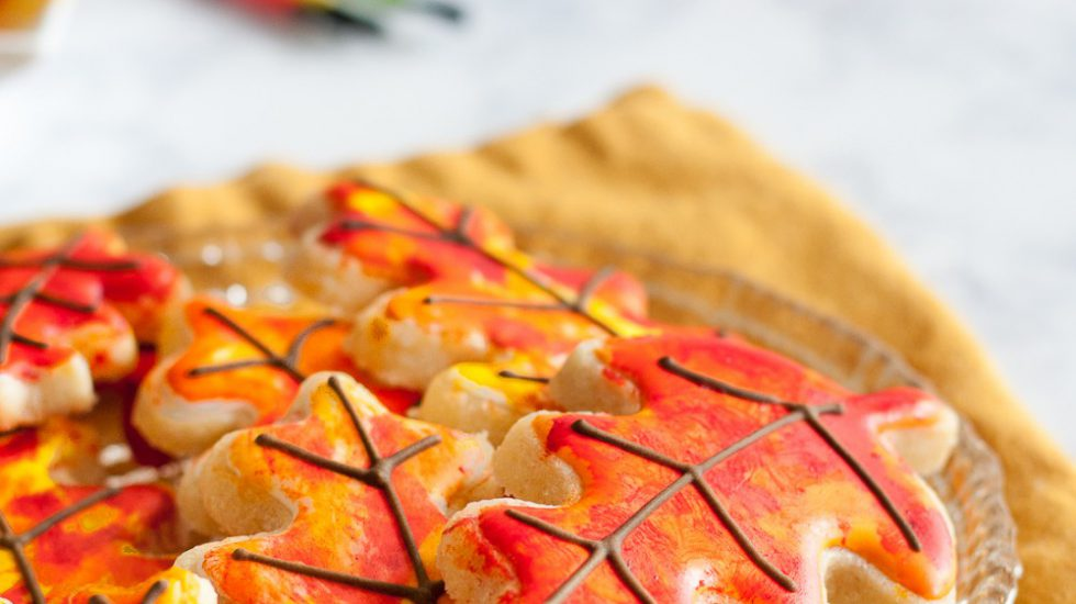 Painted Fall Leaves Sugar Cookie Tutorial