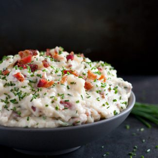 Bacon Brie Mashed Potatoes