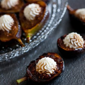 Honey Grilled Fresh Figs with Whipped Goat Cheese
