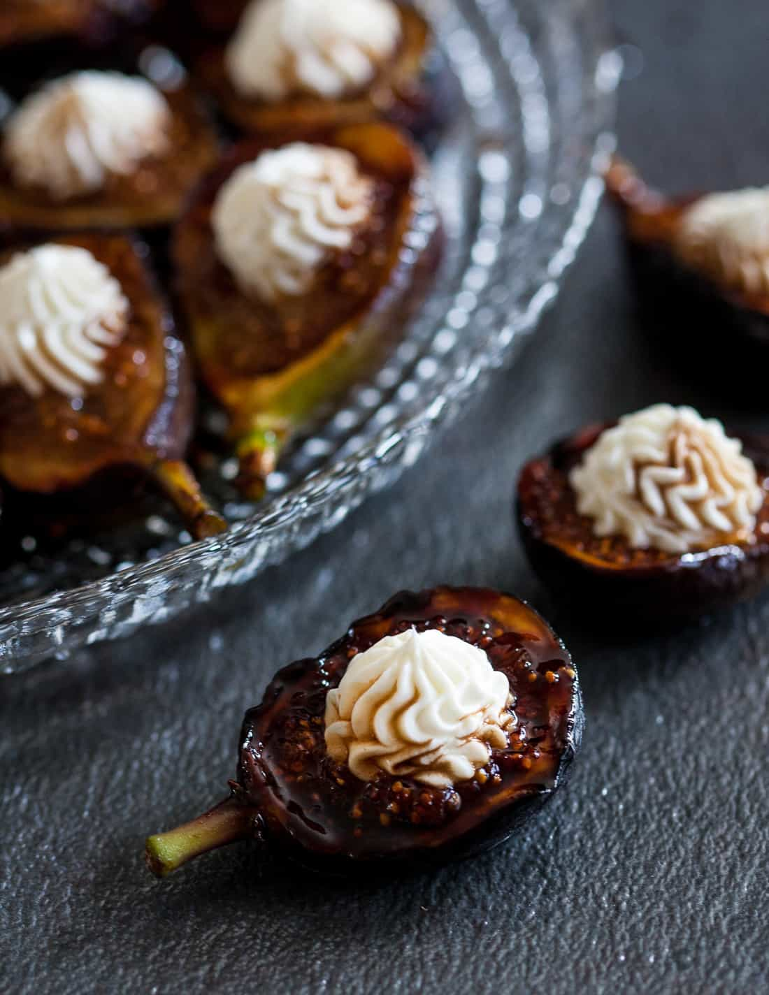 Honey Grilled Fresh Figs With Whipped Goat Cheese Goodie