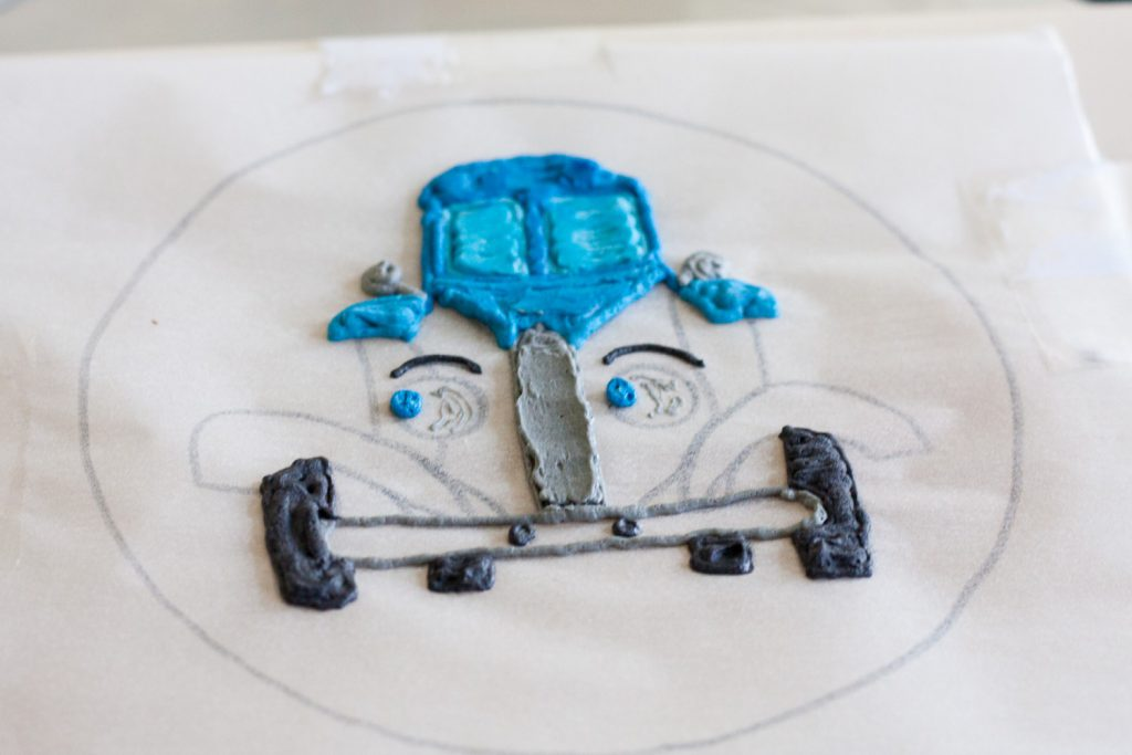 Little Blue Truck Smash Cake - A buttercream transfer tutorial on GoodieGodmother.com
