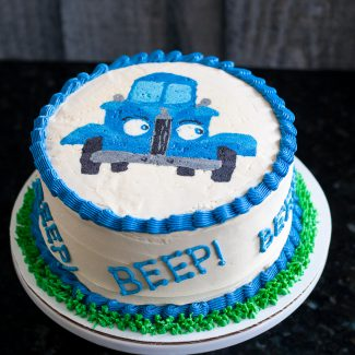 Little Blue Truck Smash Cake – Buttercream Transfer Tutorial