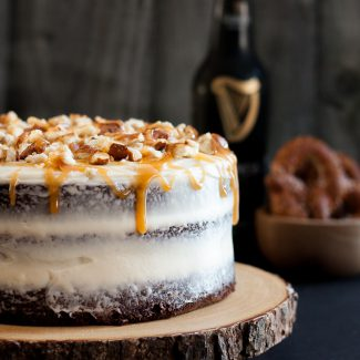 Sweet and Salty Guinness Chocolate Cake