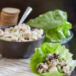 Tarragon chicken salad - this easy chicken salad recipe makes a perfect filling for sandwiches, or a great snack served with crackers! * GoodieGodmother.com