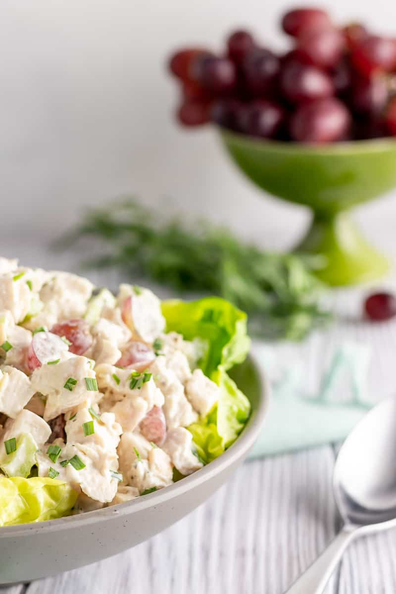 A classic for everything from sandwiches to entertaining, tarragon chicken salad is perfect for the golf course, a lunch box, or a party! * Recipe on GoodieGodmother.com