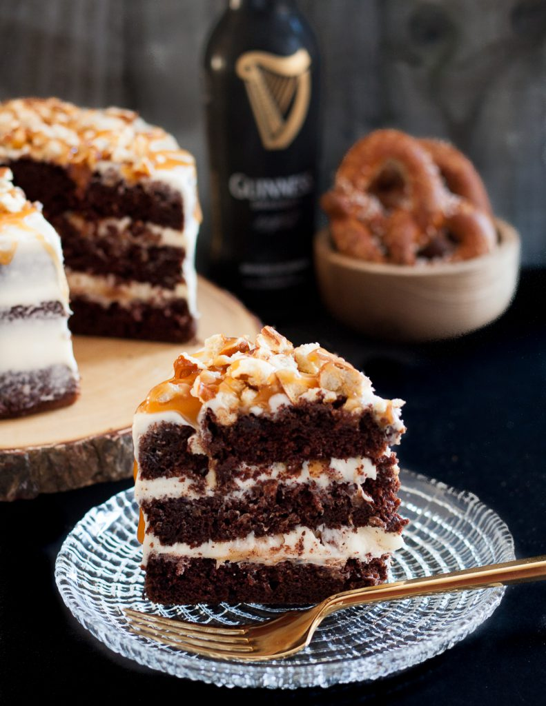 Sweet And Salty Guinness Chocolate Cake Goodie Godmother