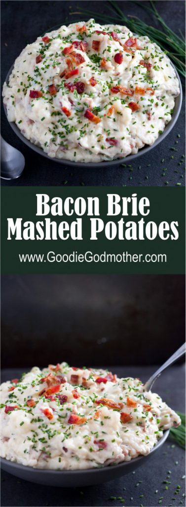 Bacon Brie Mashed Potatoes - Creamy, indulgent, totally loaded mashed ...