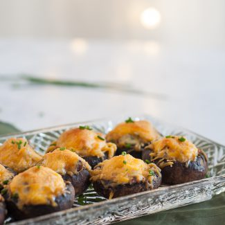 Bacon Cheddar Stuffed Mushrooms