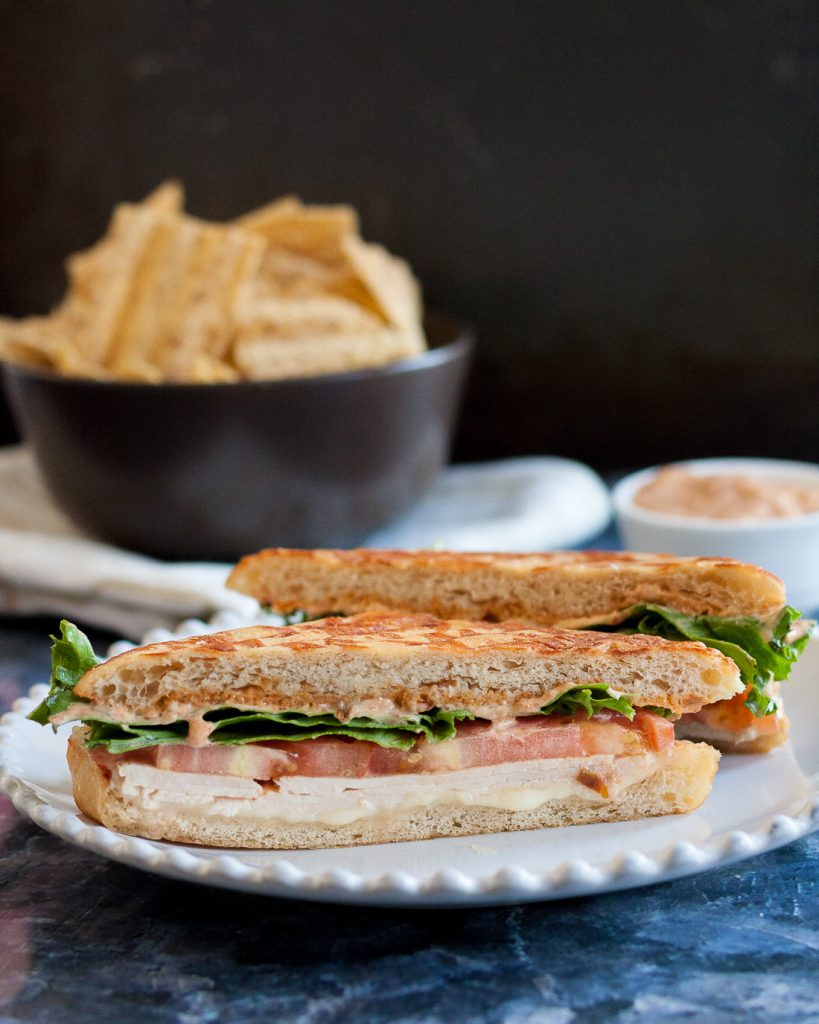 Inspired by the chipotle turkey panini the Godfather and I used to enjoy at the Storm Surge Cafe on the University of Miami campus, this panini makes a tasty and quick lunch or dinner! * Recipe on GoodieGodmother.com
