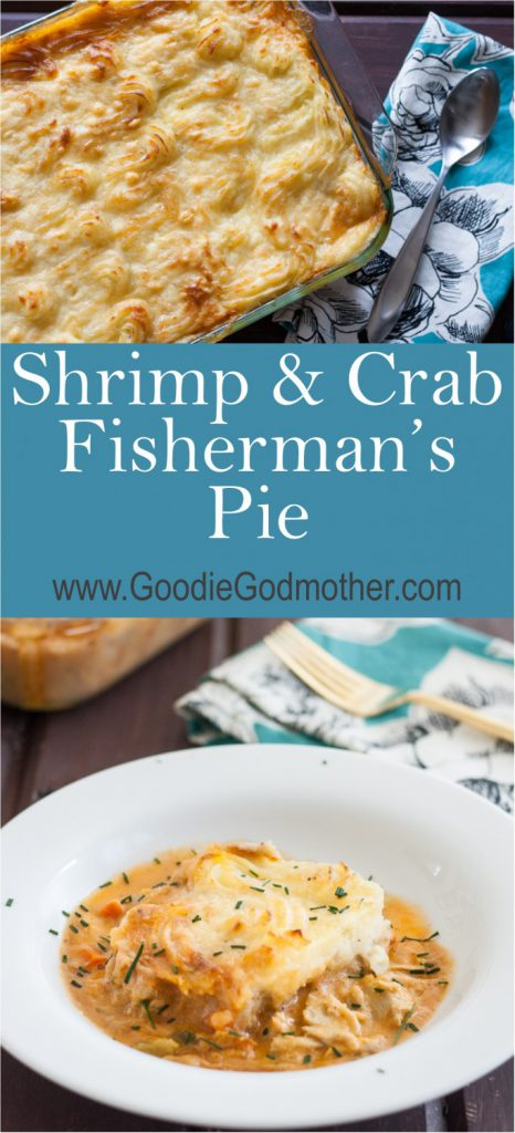Need a seafood alternative to the traditional shepherd's pie? This shrimp and crab fisherman's pie is loaded with incredible flavors and lovely enough to serve as an alternative main dish to holiday meals! * Recipe on GoodieGodmother.com