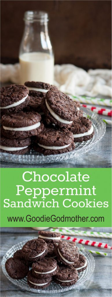 Chocolate Peppermint Sandwich Cookies - a perfect holiday twist on a ...