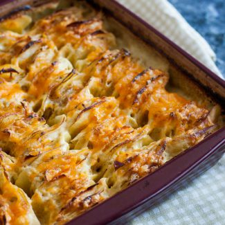 Ranch Hasselback Potato Casserole