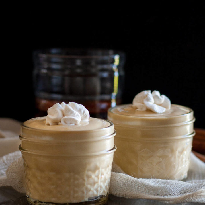 A splash of bourbon adds a perfect kick to this easy homemade bourbon butterscotch pudding! * Recipe on GoodieGodmother.com