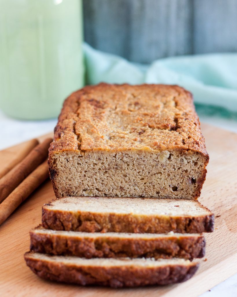 Gluten free and refined sugar free, this paleo banana bread still feels indulgent. With a great texture, it's a tasty breakfast treat or snack.  * Recipe on GoodieGodmother.com