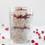 With fiber, protein, & seasonal fruit, one of our favorite make-ahead winter breakfasts or snacks is this pomegranate vanilla chia seed pudding parfait! * Recipe on GoodieGodmother.com