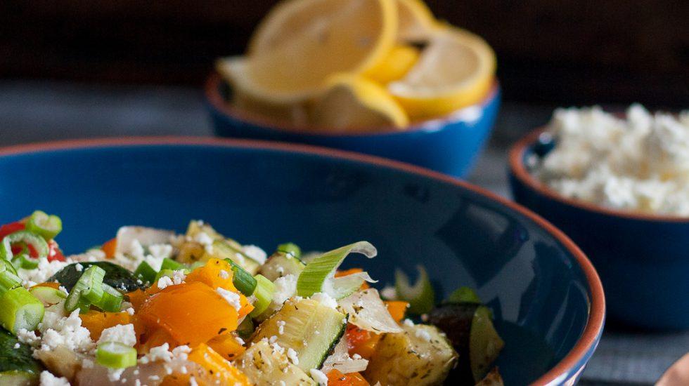 Greek Oven Roasted Vegetables