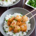 This honey chicken is a fun takeout copycat recipe to make when you'd like a takeout fix but don't actually want to order out. * Recipe on GoodieGodmother.com