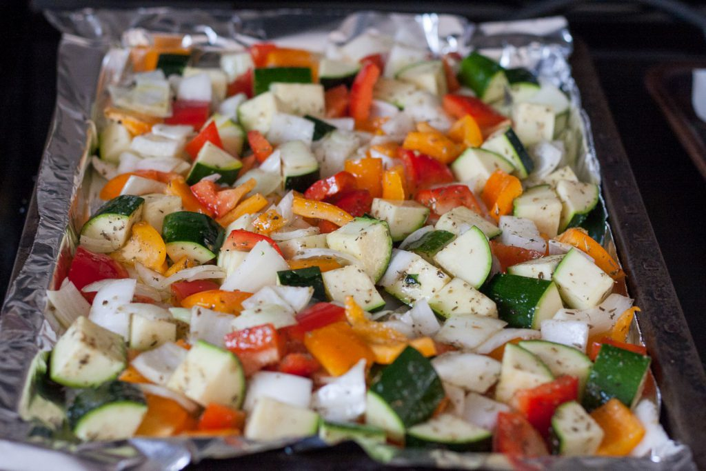 Simple, fresh flavors are the best way to dress up this colorful Greek oven roasted vegetables dish. * Recipe on GoodieGodmother.com