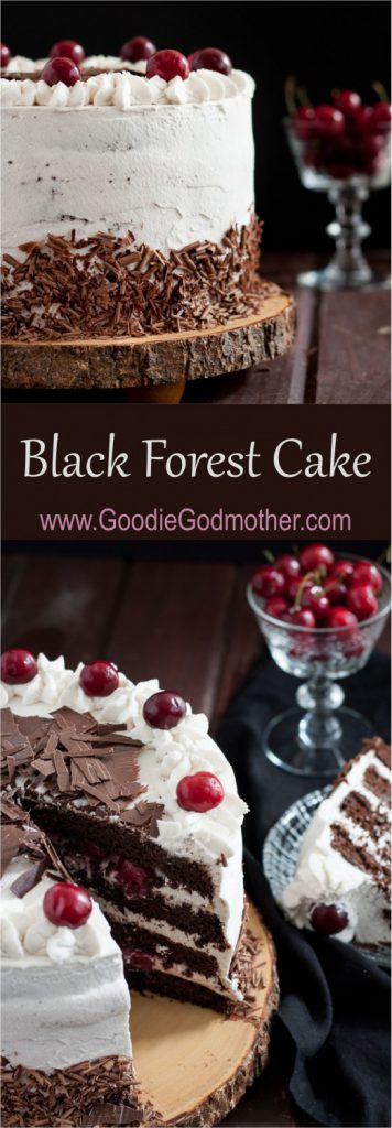 Black forest cake is a traditional German torte originating from a bakery in the Black Forest. * Recipe on GoodieGodmother.com