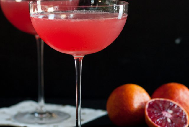 The blood orange vesper martini is a dramatic cocktail inspired by a classic espionage love story. * Recipe on GoodieGodmother.com