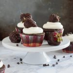 Have your cake and a strawberry too! These chocolate covered strawberry cupcakes are two different takes on one classic sweet treat. * Recipe on GoodieGodmother.com