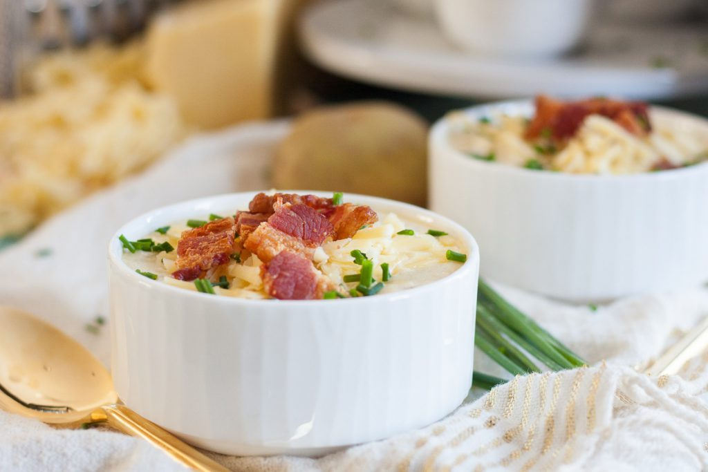 A classic comforting soup recipe, this Yukon Gold baked potato soup is a family favorite!