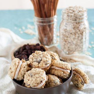 Gluten Free Oatmeal Raisin Sandwich Cookies