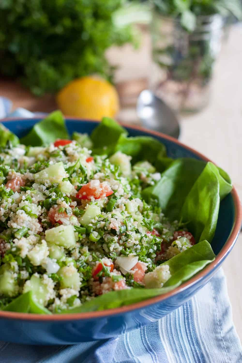 A classic tabbouleh salad recipe, made in the style of my grandmother. Bright flavors, fresh ingredients, and a beautiful presentation make this salad a favorite! * GoodieGodmother.com