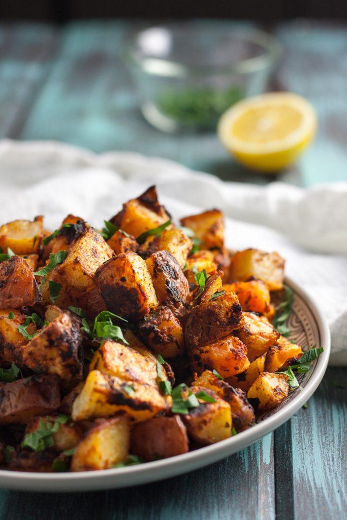 Crispy Oven Roasted Spanish Potatoes Goodie Godmother