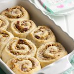 A sweet roll worthy of The King of Rock and Roll, these peanut butter, banana, and bacon delights are aptly titled, Elvis Sweet Rolls. * Recipe on GoodieGodmother.com