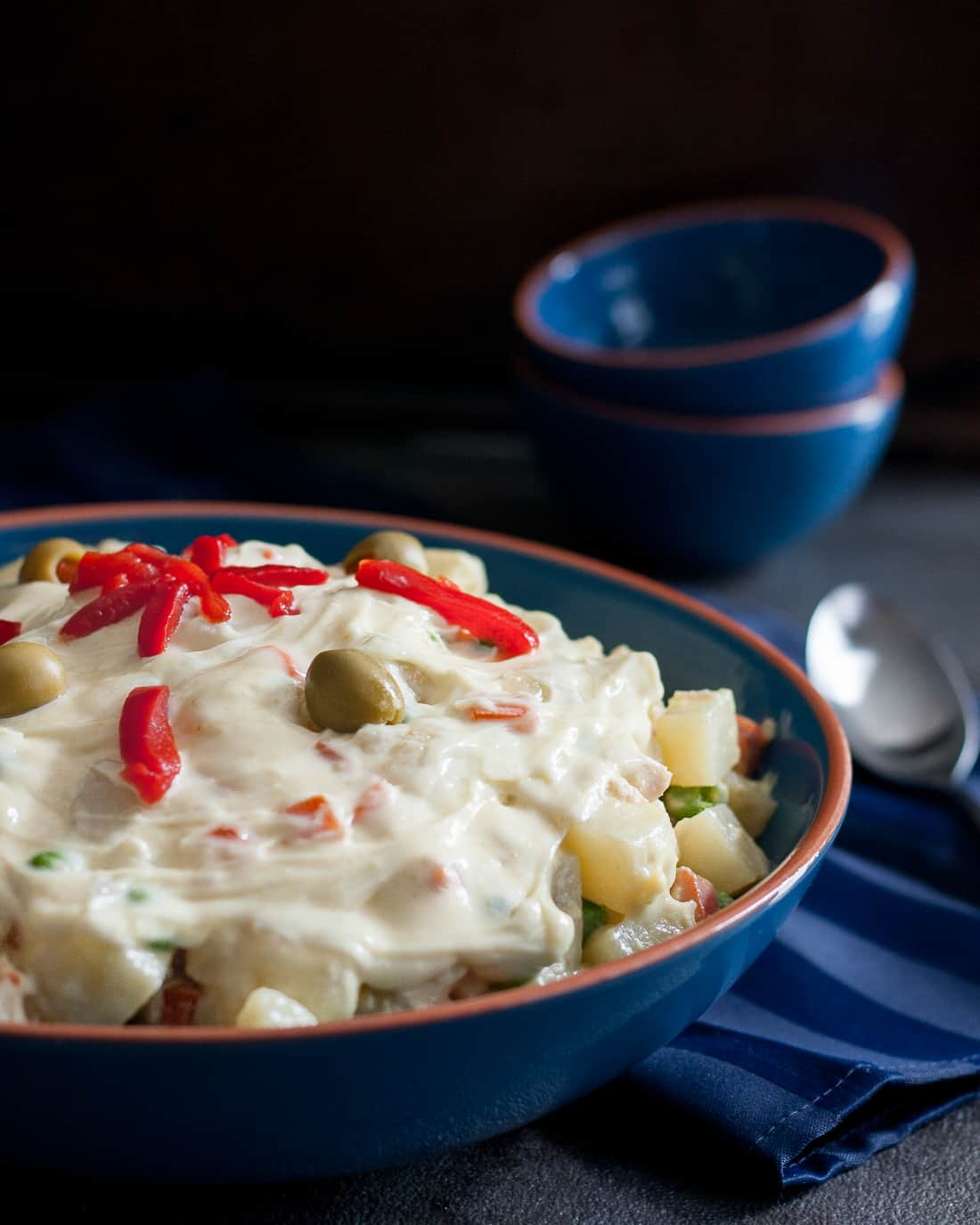 Ensaladilla Rusa, also called Ensalada Rusa, or just Spanish potato salad, is a favorite Spanish dish. * Recipe on GoodieGodmother.com