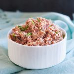 Use as a sandwich spread or topping for crackers or celery. Homemade deviled ham is ready in minutes * GoodieGodmother.com