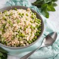 Mint provides a refreshing flavor to this mint pea couscous. * Recipe on GoodieGodmother.com